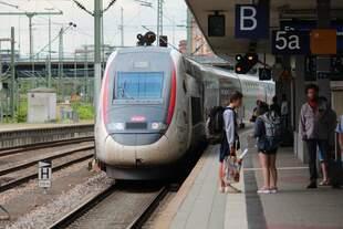 Am 14.08.2018 erreicht TGV 9580 nach Marseille den Hauptbahnhof Mannheim.
