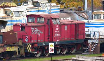 Ex PBSV 03 (später Kube Con) abgestellt im BW Nordhausen 03.11.2018.