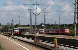 Blick über den Bahnhof Crailsheim am 05.09.2015