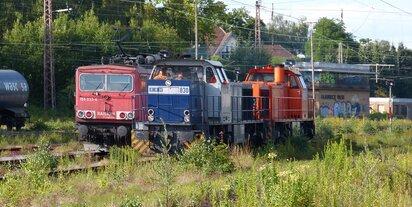 RBH830 und 155 033-4 Gladbeck-West 02.07.2014