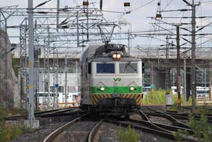 Am 26.07.2017 erreicht eine Sr1 den Bahnhof Helsinki Pasila mit dem IC 150 aus Jyvaskyla.