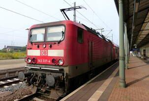 143 337 mit RE9 nach Kassel-Wilhelmshöhe in Nordhausen 12.09.2015