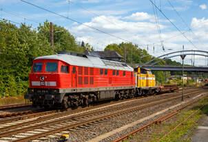 Die  Ludmilla  234 278-0 (92 80 1234 278-0 D-SEL) der SEL – Martin Schlünß Eisenbahnlogistik (Wankendorf), ex DB 234 278-0, ex DR 232 278-2, ex DR 132 278-3, schleppt am 24.07.2020
