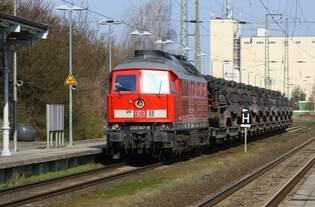 DBC 232 347 vor M-Zug am 19.04.2021 - Bf Anklam durch von WRS nach WDH