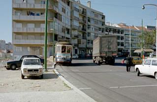 Lisboa / Lissabon CARRIS SL 24 (Tw 267) Parada do Alto de São João im Oktober 1982.