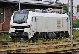 159 207-0 (Stadler Eurodual) verbrachte das Wochenende auf einem Abstellgleis im Bahnhof Leinefelde.