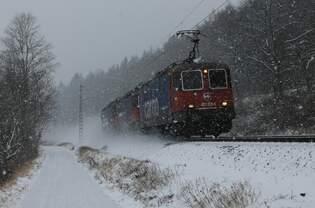 421 376-5+421 389-8+421 387-2 SBB-Cargo bei Erhausen am 06.01.2016