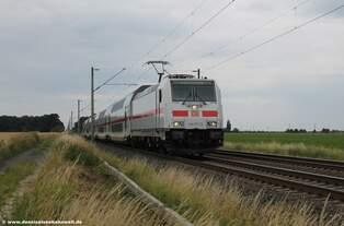 146 571-5 DB mit einem Intercity bei Sierße in Richtung Osten am 01.07.2016