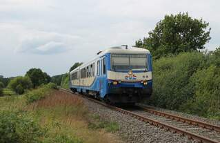 628 150-4 der EVB mit Moorexpress bei Osterholz-Scharmbeck 09.07.2016