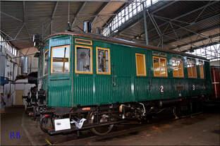 Dampftriebwagen M124 001 im Depot des Nationalen Technischen Museums (NTM) in Chomutov 28.08.2016