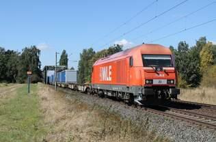223 057-1 WLE mit KLV bei Woltorf am 30.08.2016