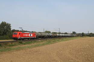 185 631-9 HGK mit Kesselwagen bei Elze am 01.09.2016