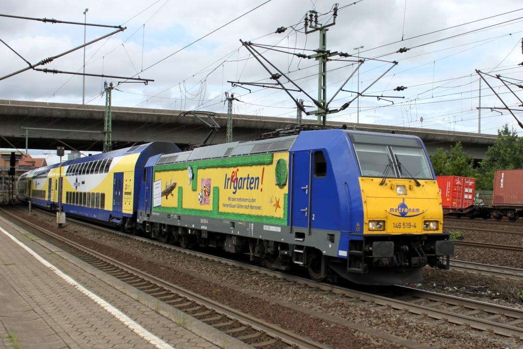 146 519 der metronom mit ihrer irrgarten werbung in hh - Irrgarten deutschland ...