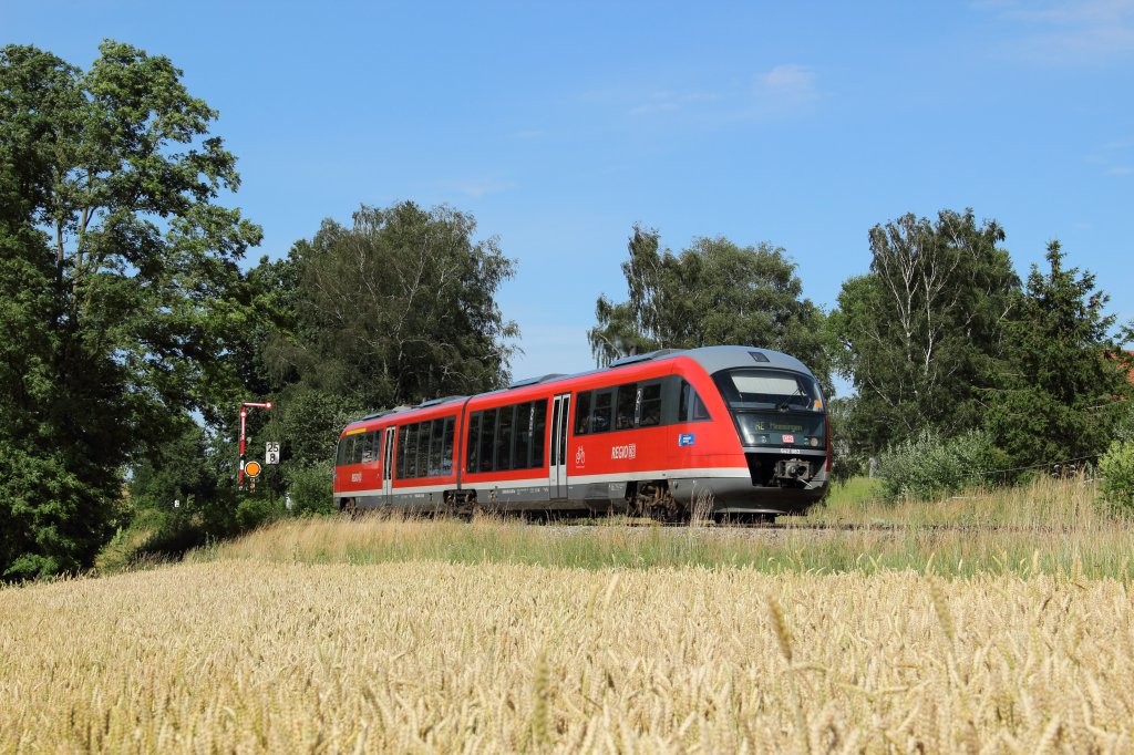 642 083 als RE nach Memmingen in Stetten (Schwab) am 18.07.2012