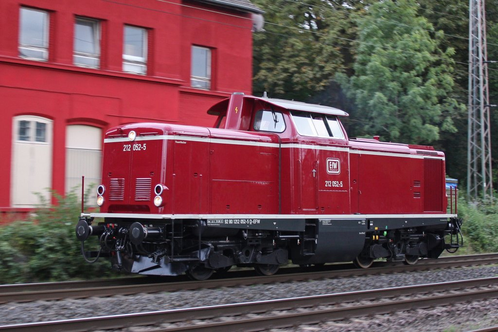 EfW 212 052 am 5.9.12 als Lz in Ratingen-Lintorf.