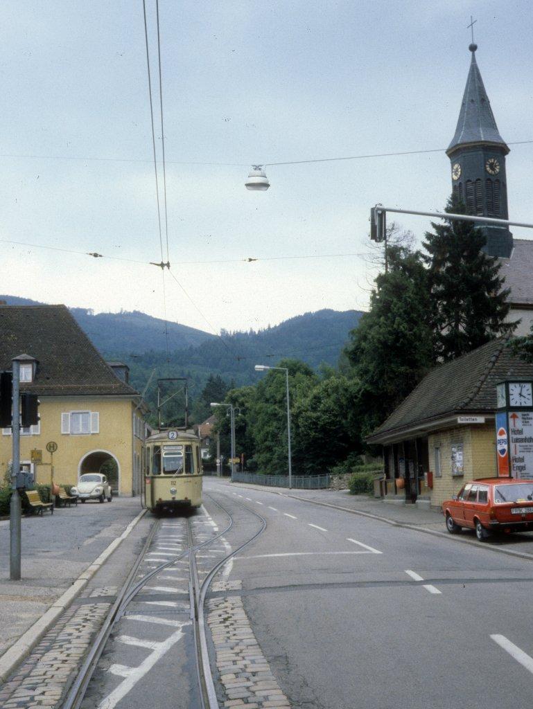 freiburg im breisgau vag sl 2 gt 112 g nterstal klosterplatz am 29 juni 1980. Black Bedroom Furniture Sets. Home Design Ideas