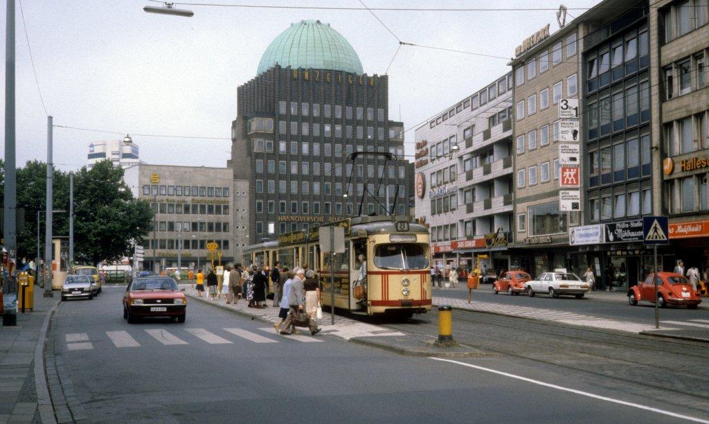 Möbelspende Hannover hannover üstra sl 8 t4 505 kurt schumacher strasse am 26 juni 1981 im hintergrund sieht