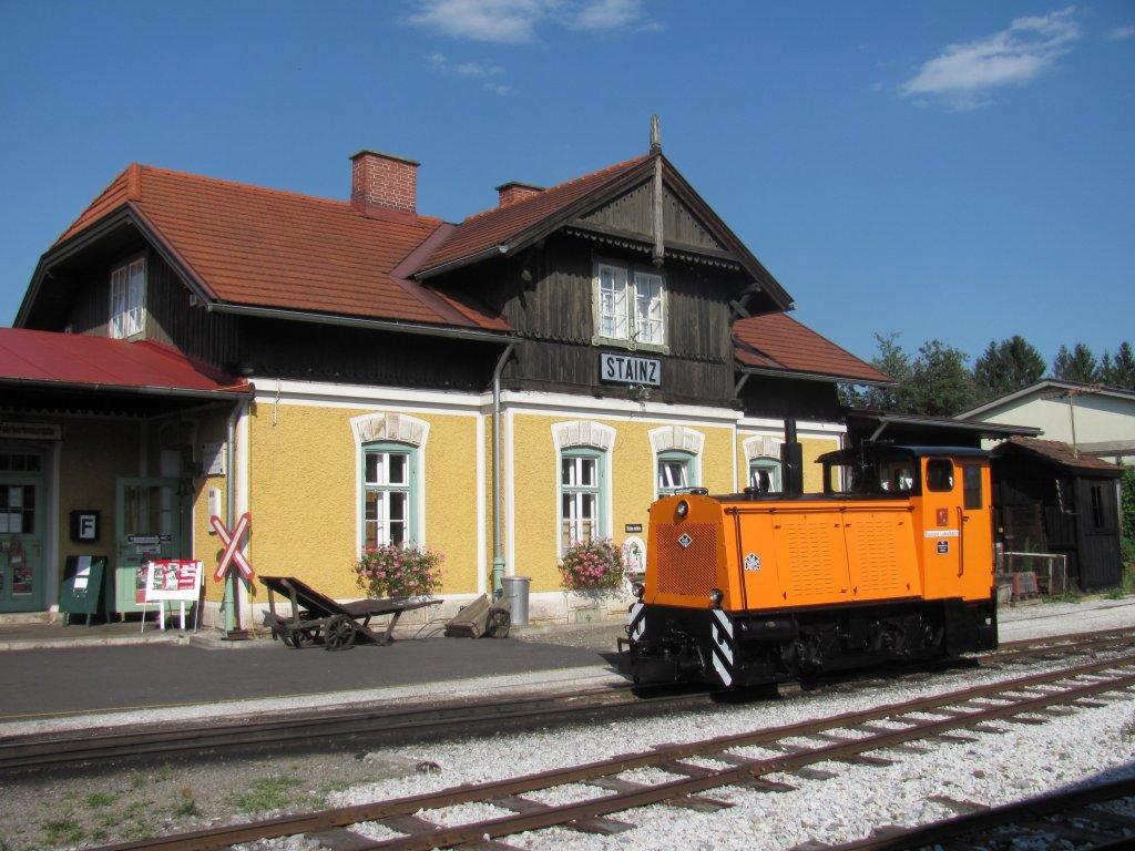 Lok D6 Erstrahlt In Neuem Glanz Bahnhof Stainz 8 07 2012