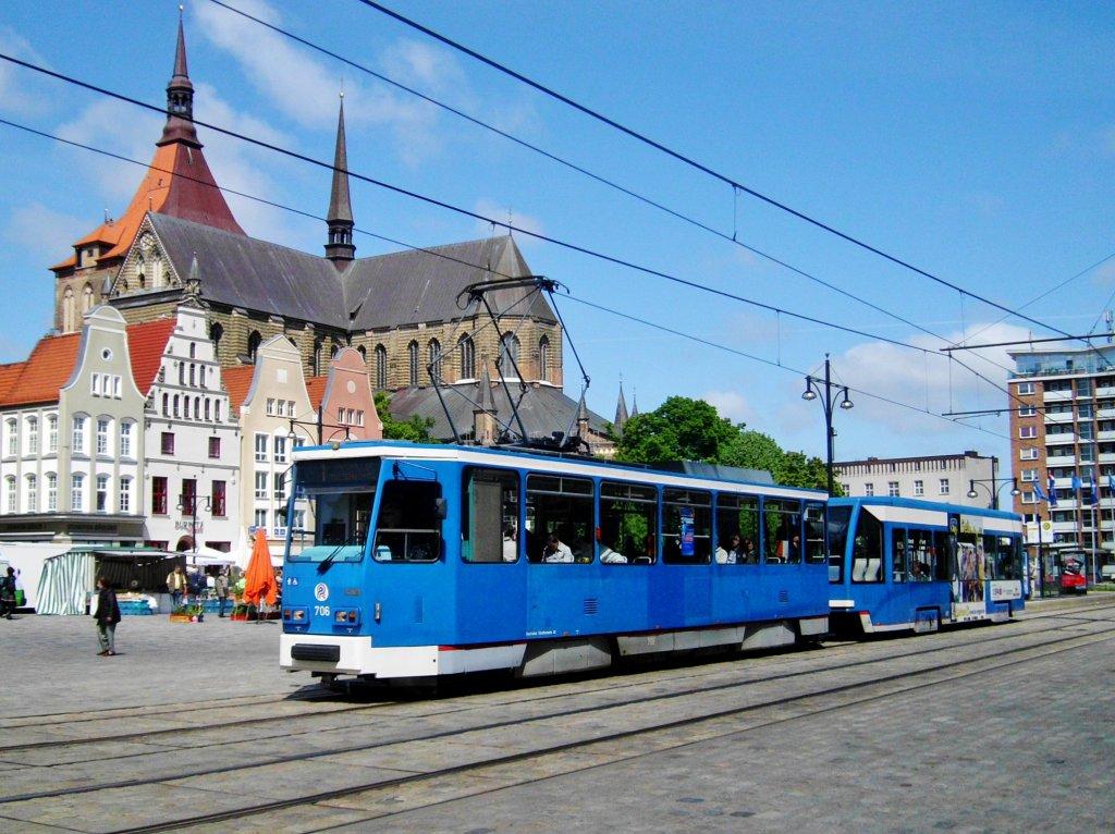 Rostock Stra Enbahnlinie 1 Nach Rostock Toitenwinkel