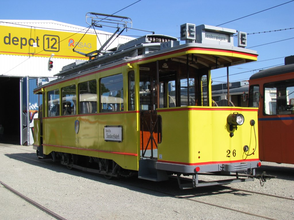 Triebwagen Nr 26 Der Wismarer Aufgenommen Anl Lich