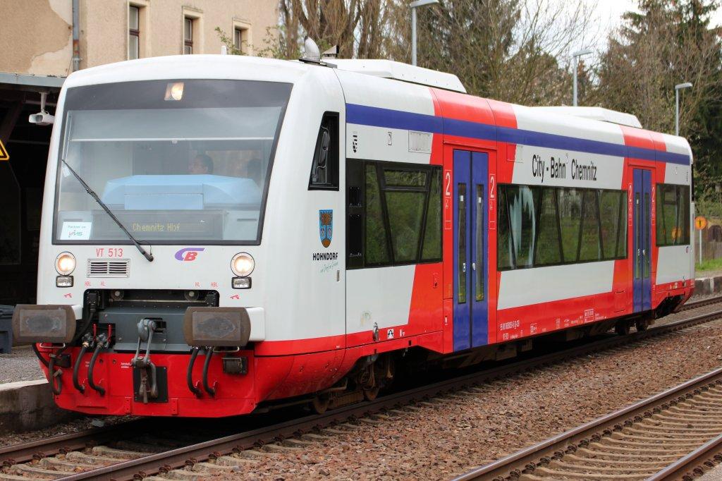 Vt 513 Der City Bahn Chemnitz In Wittgensdorf Mitte Nach Chemnitz