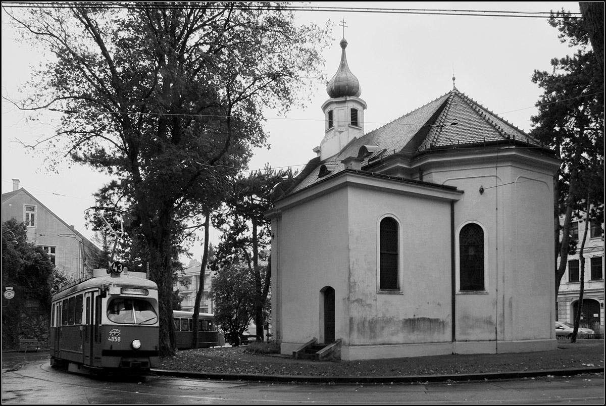 Kapelle Mit Schleife Die Wendeschleife Der Wiener Straßenbahnlinie