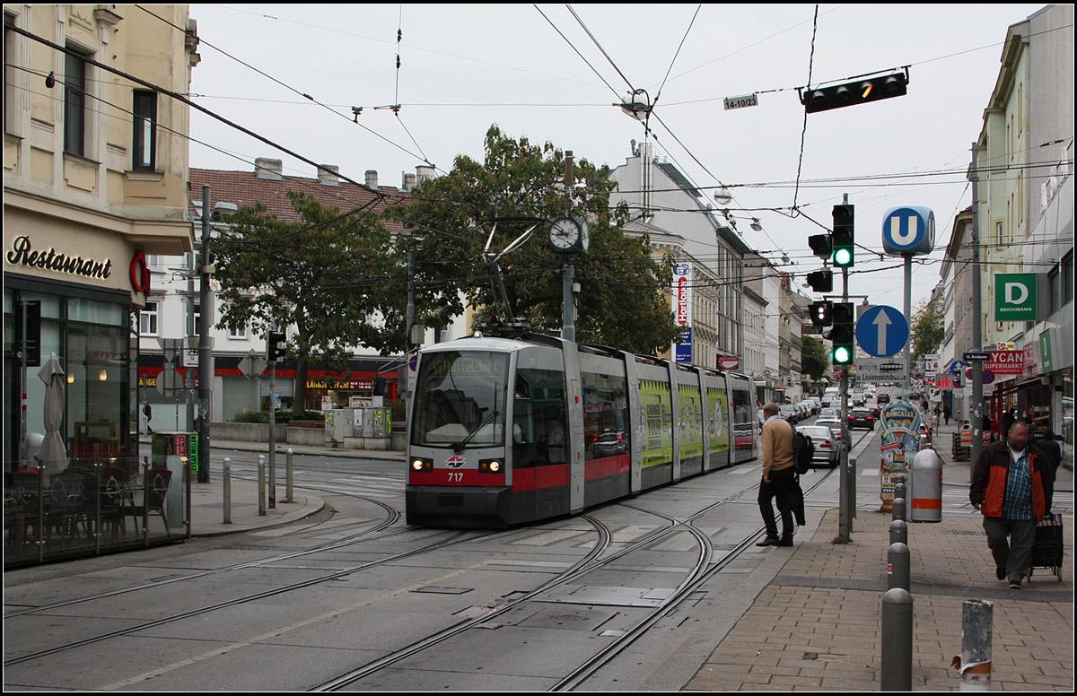 Straßenszene Hütteldorfer Straße Unser Unterkunft Während Des Wien