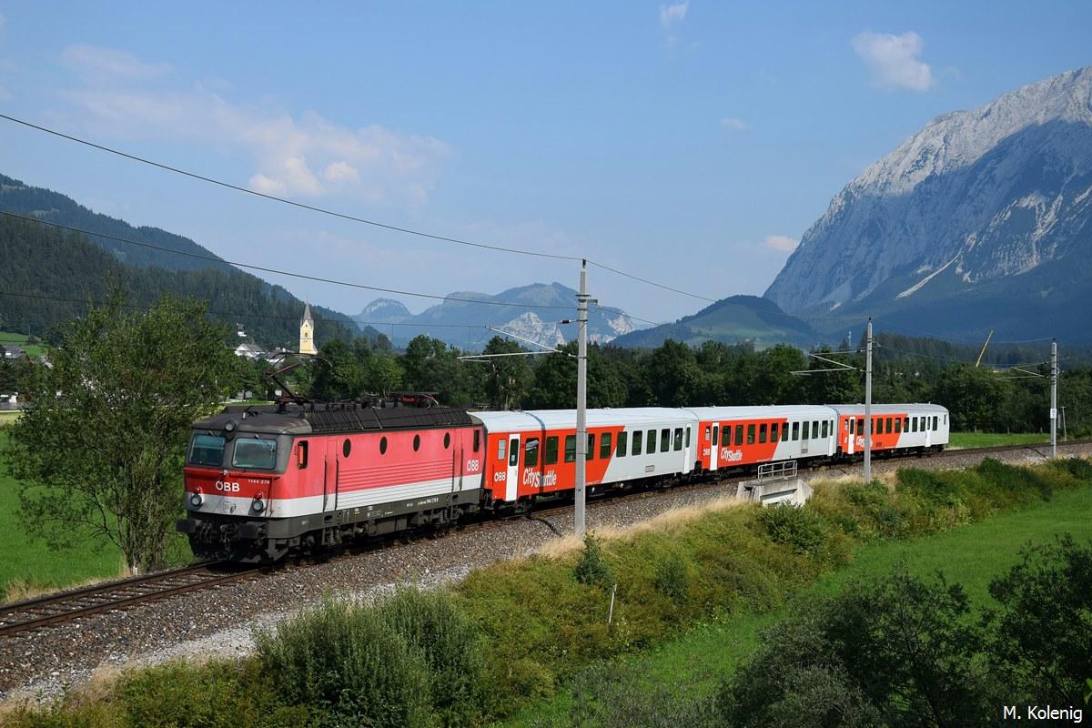1144 278 schiebt REX 4410 (Attnang-Puchheim u0026gt; Stainach ...