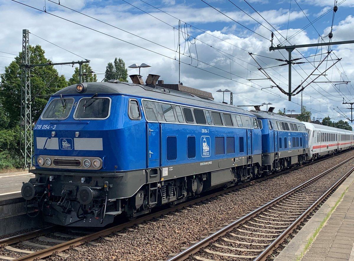 03 09 2020 218 402 6 Pidder Lung Der Rprs Durchfahrt Ahrensburg Mit Ic 2415 Von Burg Fehmarn Nach Hamburg Hbf Bahnbilder De