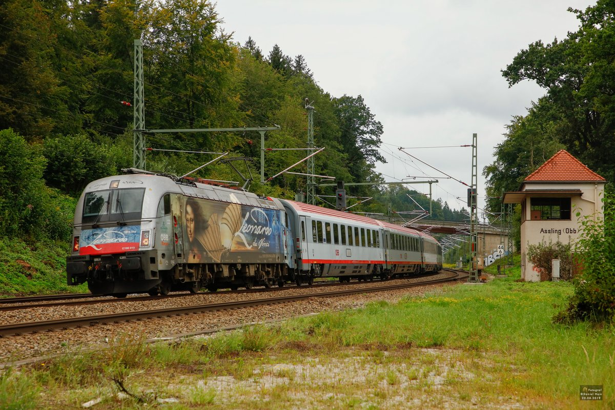 1216 019  Leonardo Da Vinci  in Aßling, am 20.08.2019.