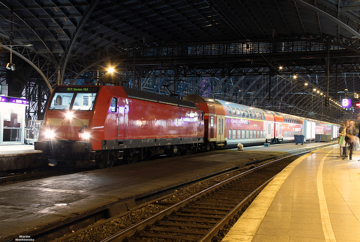 146 004 am RE9 nach Siegen in Köln Hbf am 25.09.2019