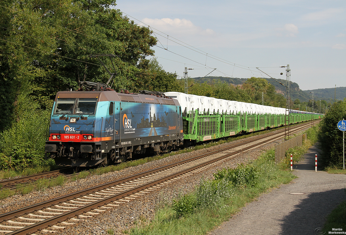 185 601 Nightrider bei BN-Limperich am 22.07.2020