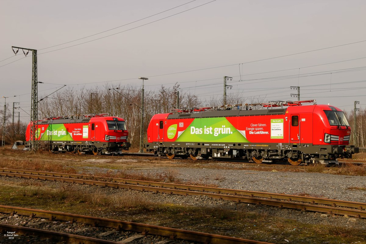 193 300 & 193 301 DB Vectron in Emmerich, am 17.02.2018.