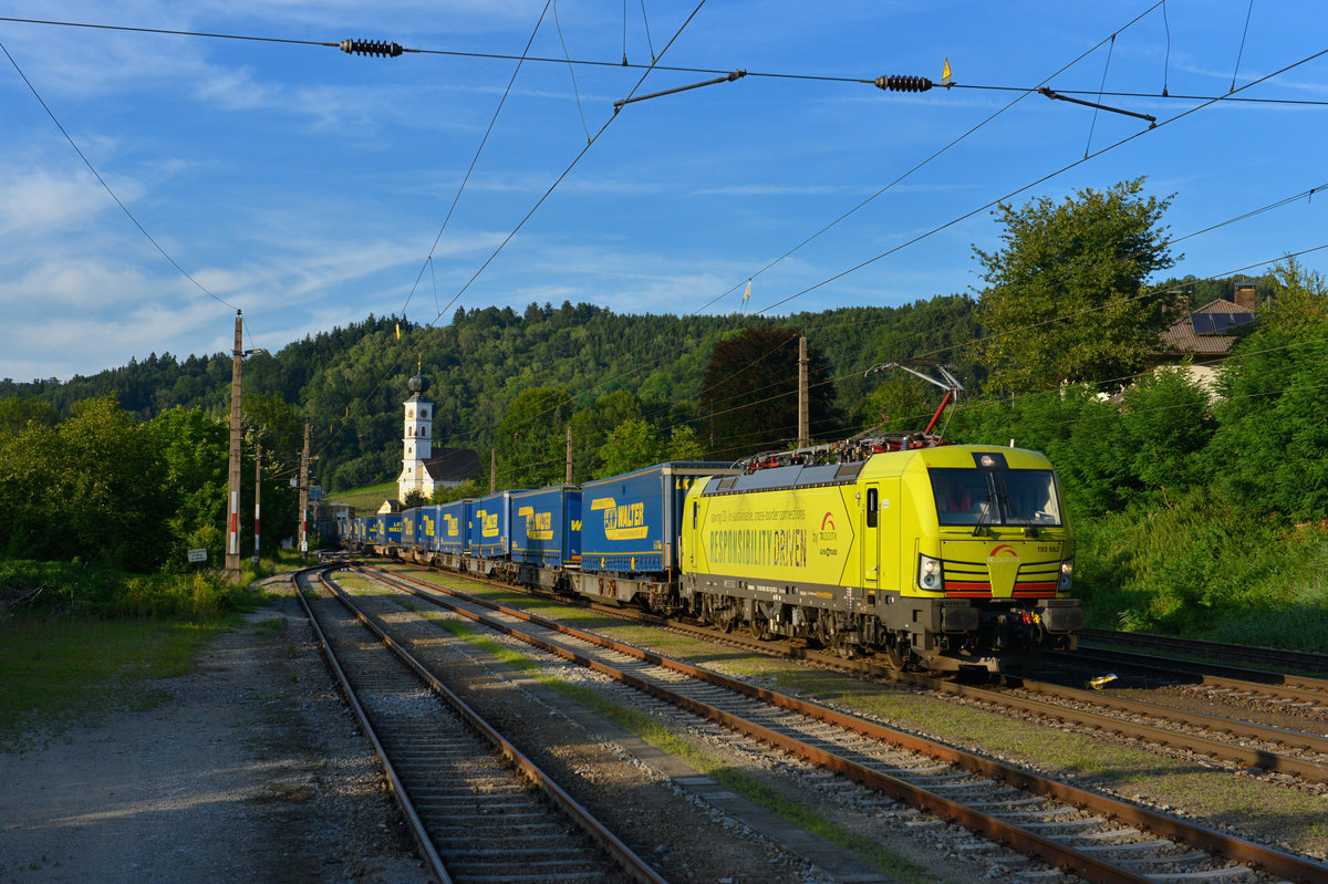 193 552 mit DGS 43949 am 02.08.2017 in Wernstein am Inn.