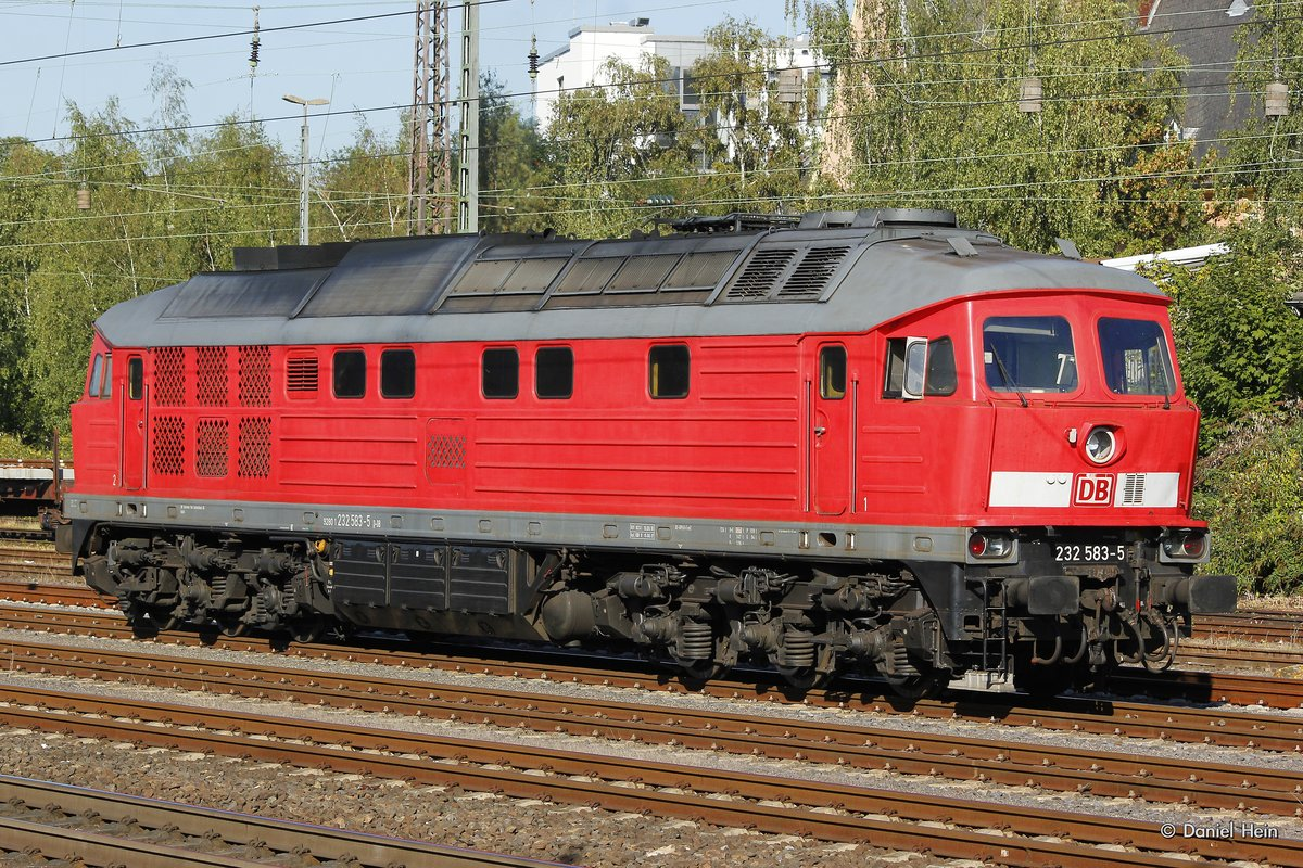 232 583-5 Ludmilla in Düsseldorf Rath, am 09.09.2016.
