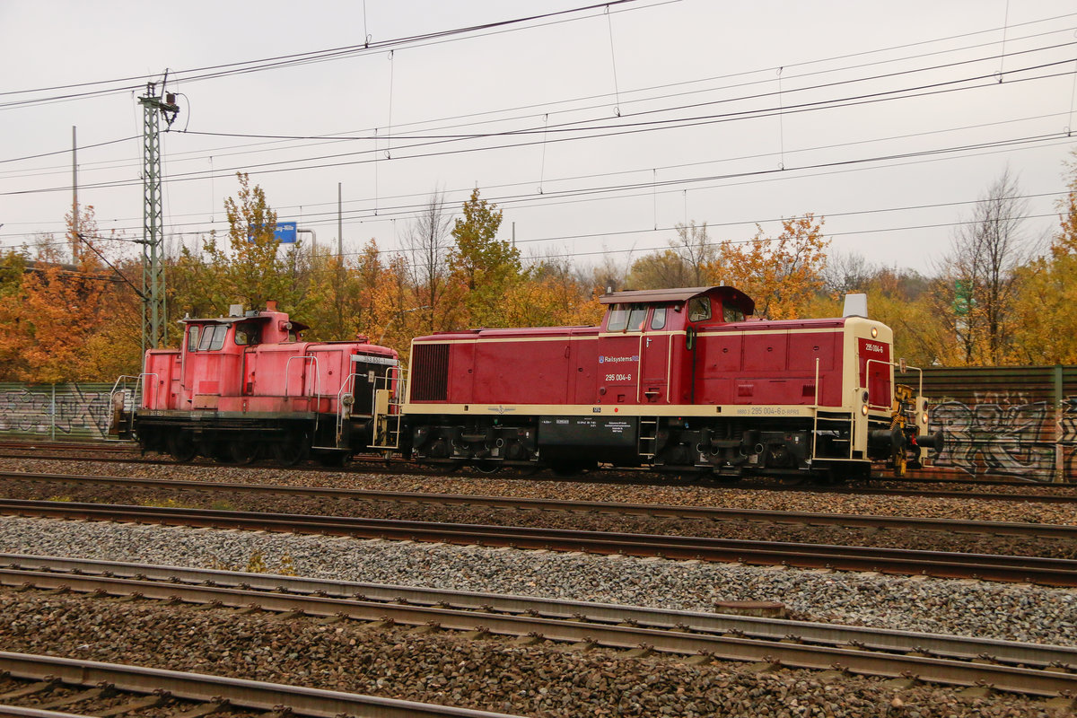 295 004-6 RP & 363 651-1 in Hamburg Harburg, am 09.11.2018.