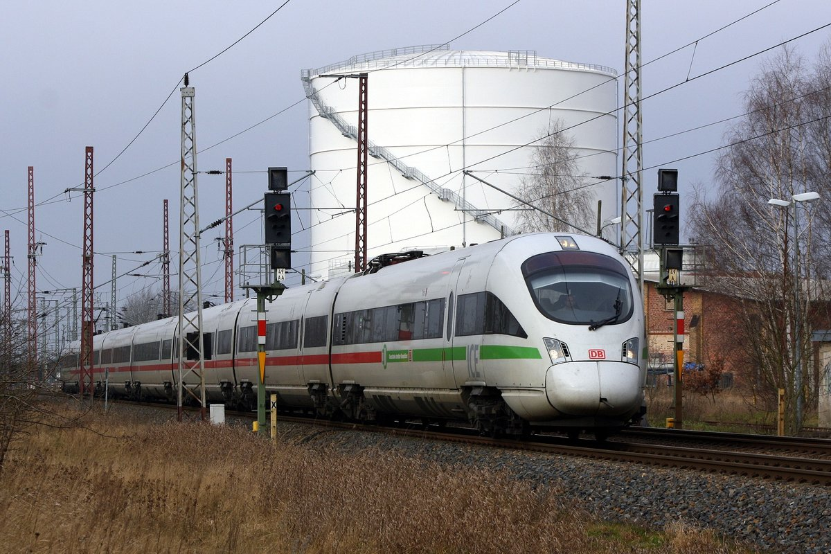 411 031 ICE  Trier  - durch Anklam am 24.01.2020