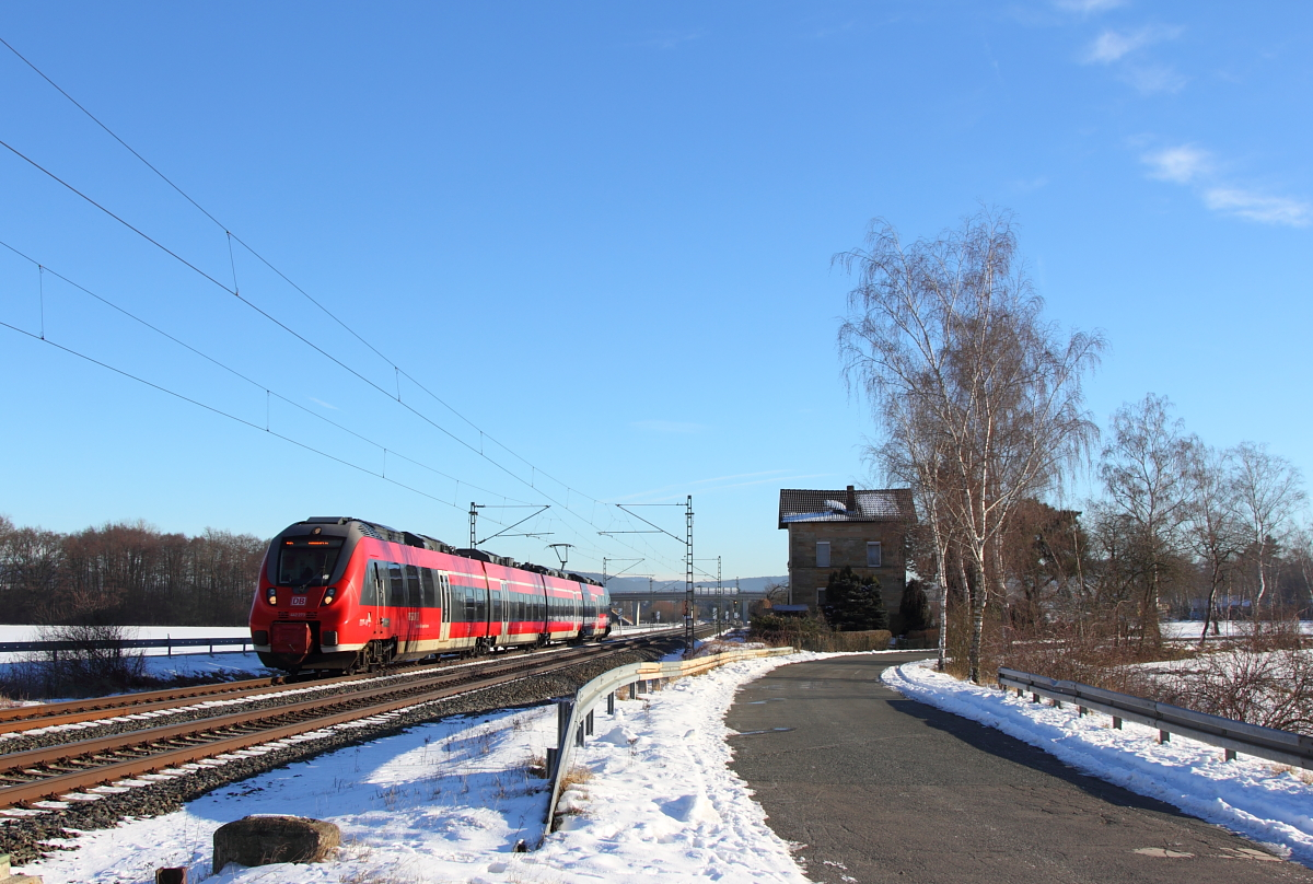 442 273 DB Regio in Oberlangenstadt am 20.01.2017.