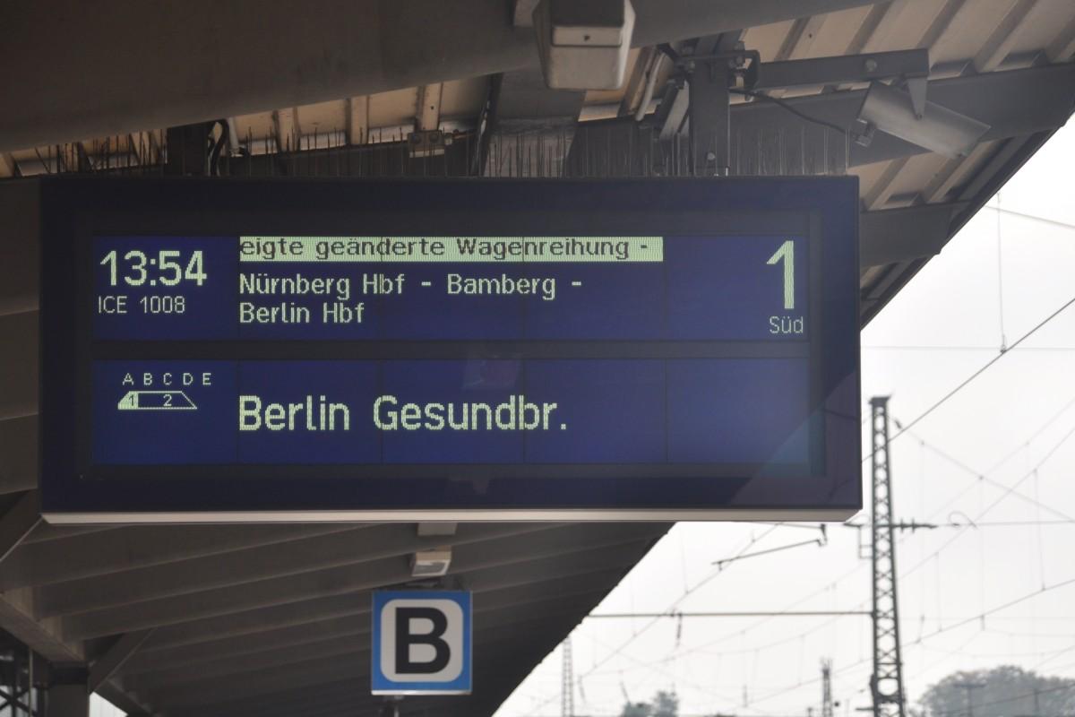 augsburg zugzielanzeiger im hauptbahnhof f r ice 1008 nach berlin gesundbrunnen. Black Bedroom Furniture Sets. Home Design Ideas