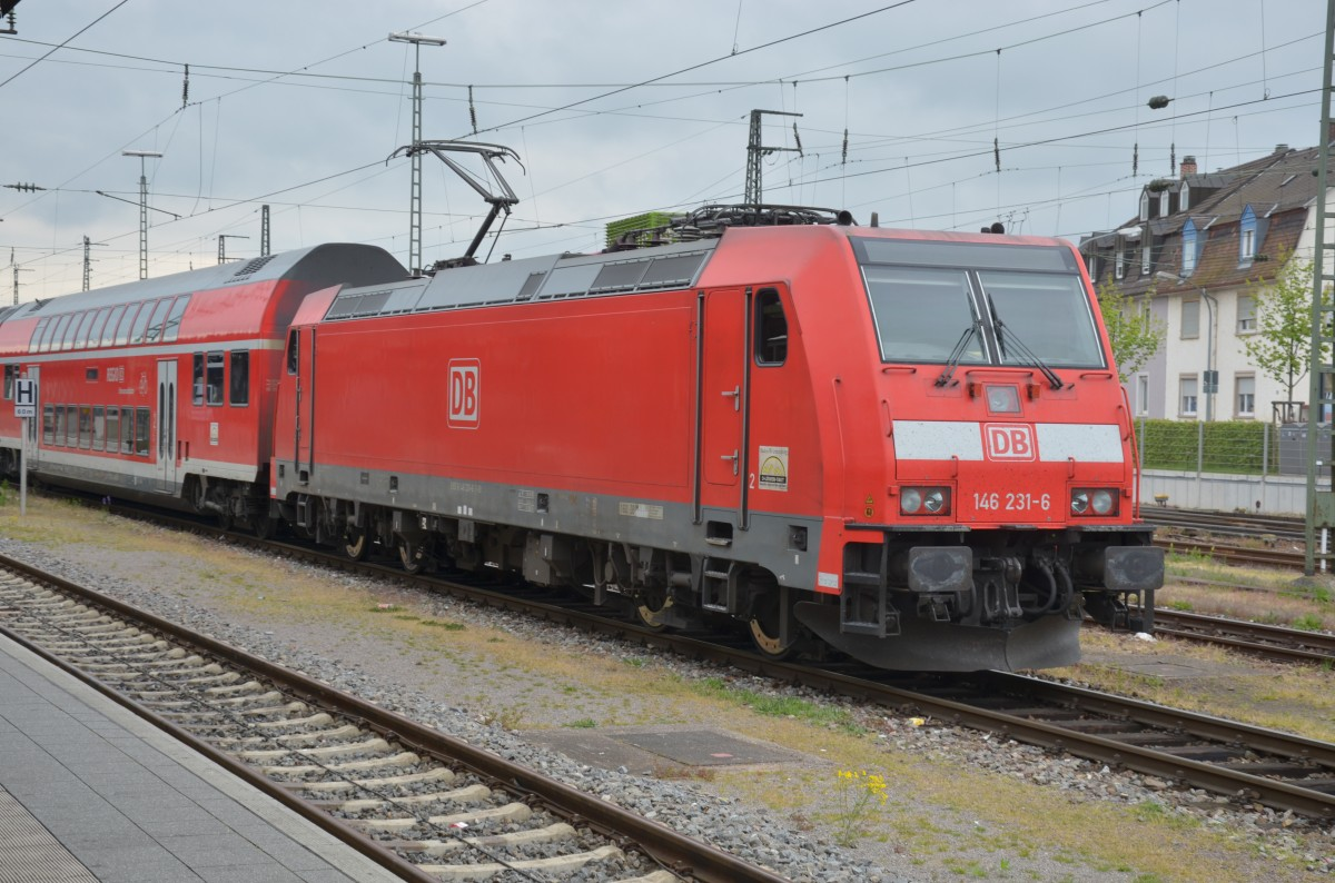 BR 146 231 6 am 19. April in Offenburg