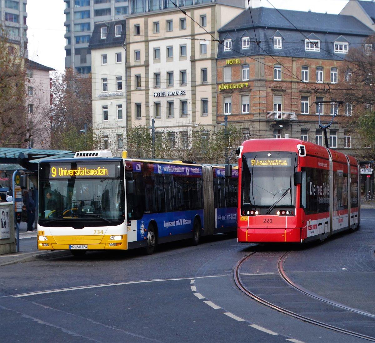 Bus Trifft Bahn Mvg Man Lions City G Wagen 734 Und Stadler