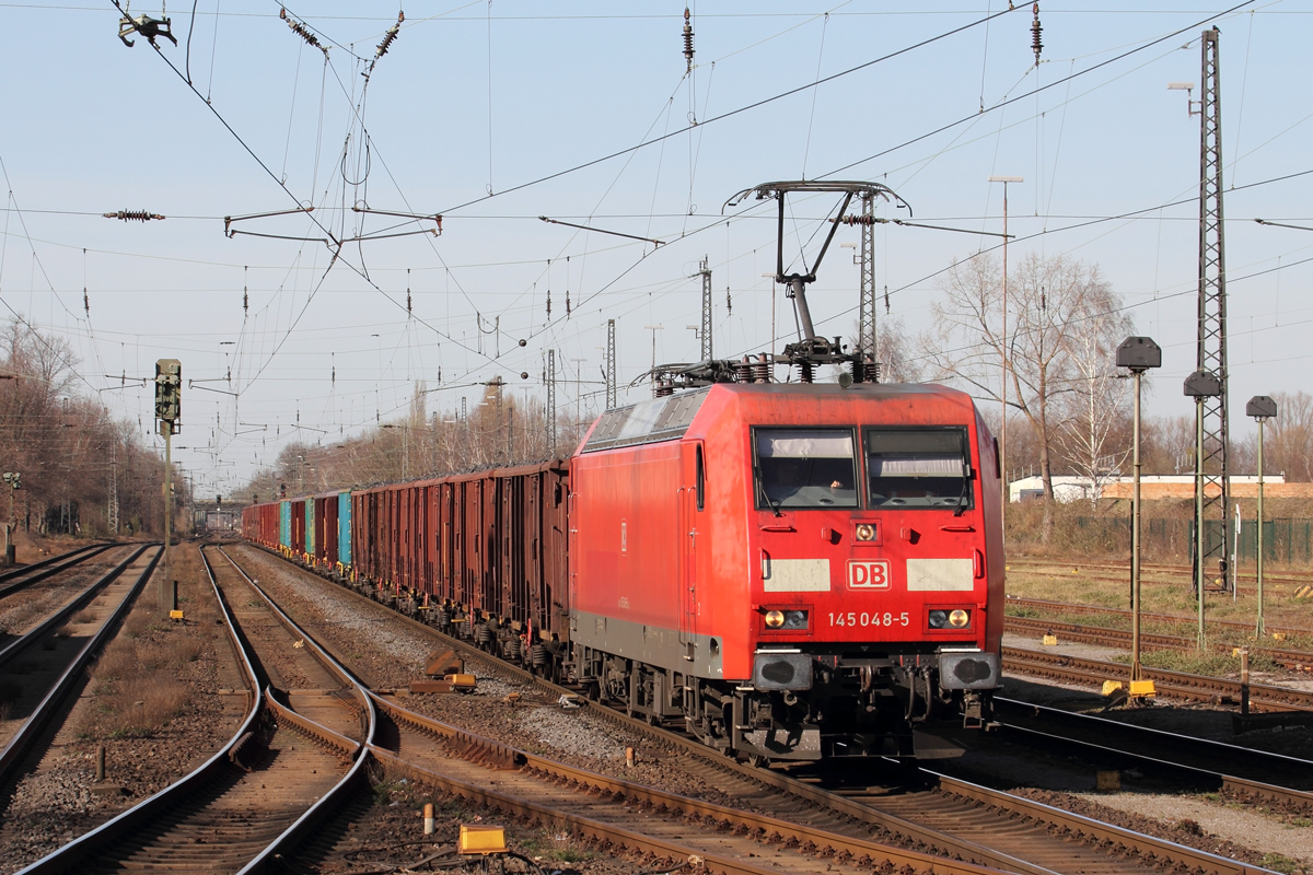DBC 145 048-5 in Recklinghausen-Süd 29.3.2021