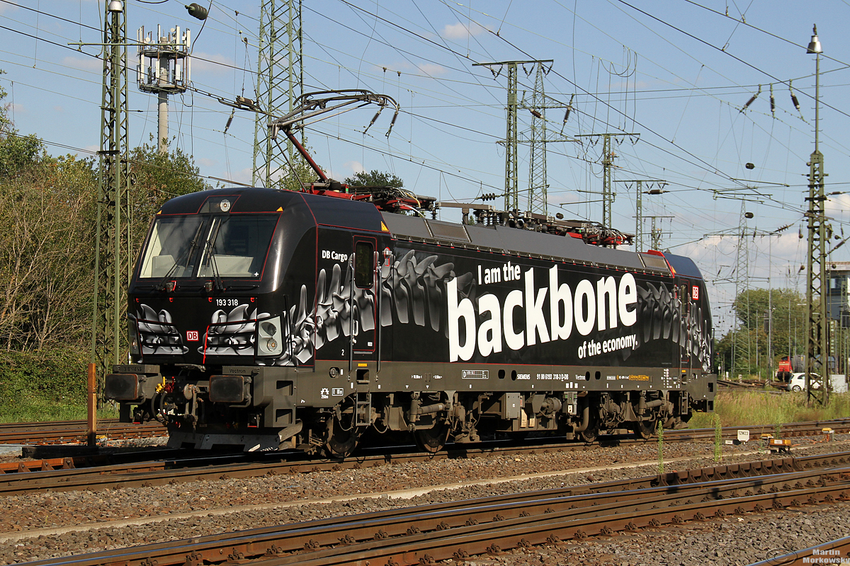 DBC 193 318  I am the backbone  in Gremberg am 04.08.2020