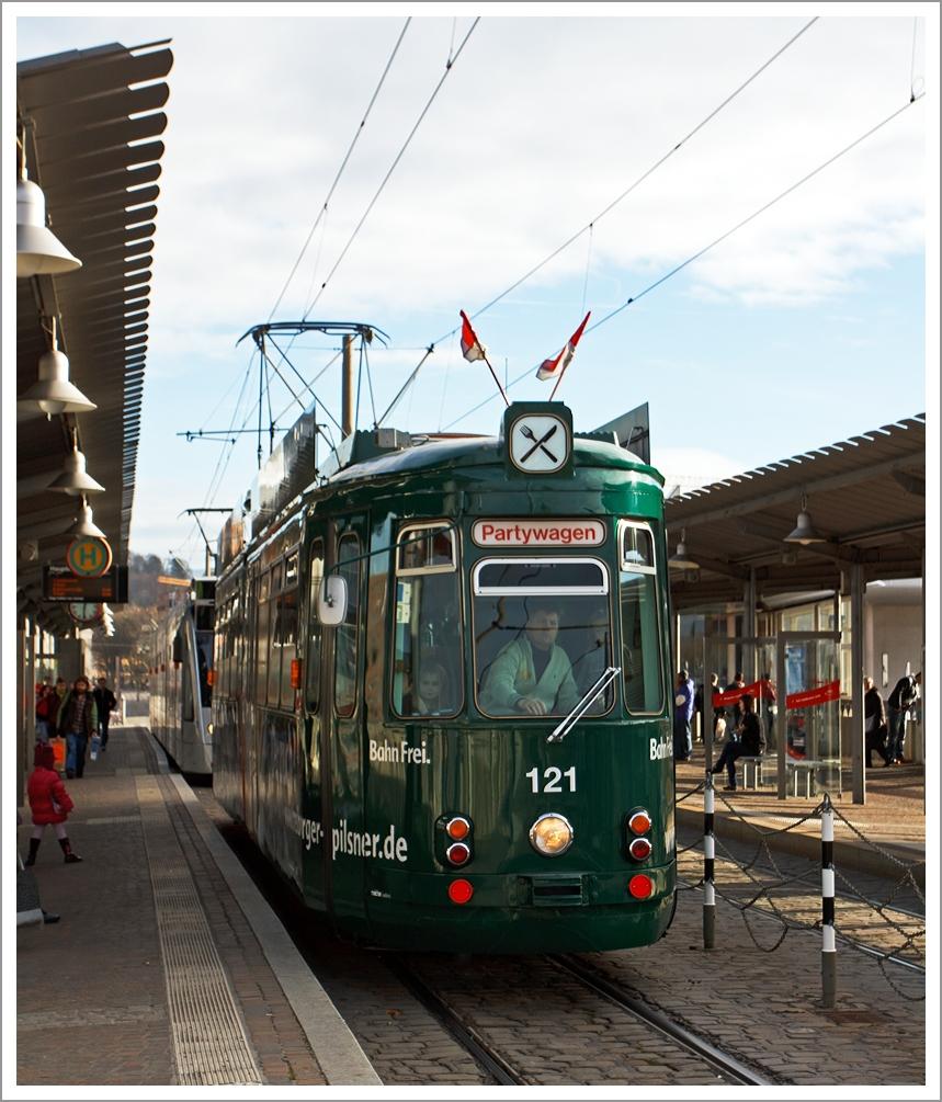 Der Partywagen 121 der Freiburger Verkehrs AG (VAG