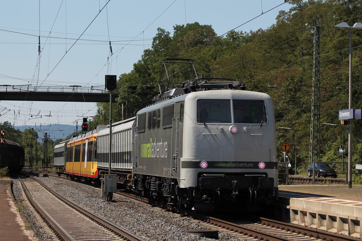 Die Railadventure 111 222 am 19.07.2018 in Eichenberg.