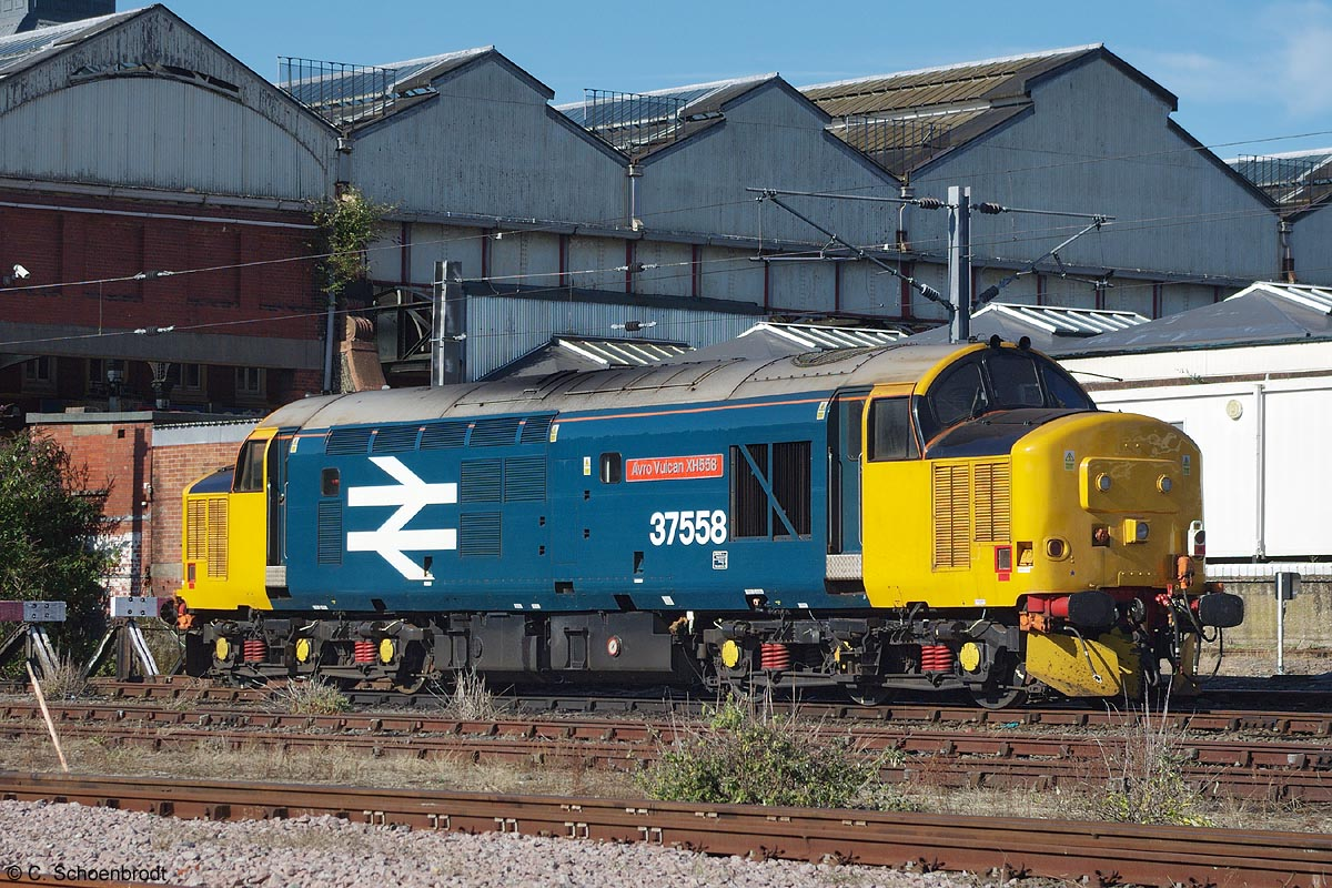DRS class 37/4 locomotive # 37558 with BR Large Logo 