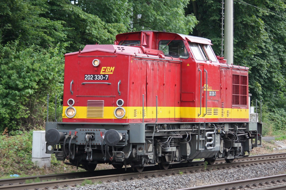 EBM Cargo 203 330 am 17.7.13 als Tfzf in Ratingen-Lintorf.
