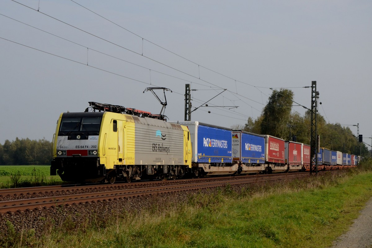 ES64F4 202 ERS Railways am 05.10.2014 bei Woltorf