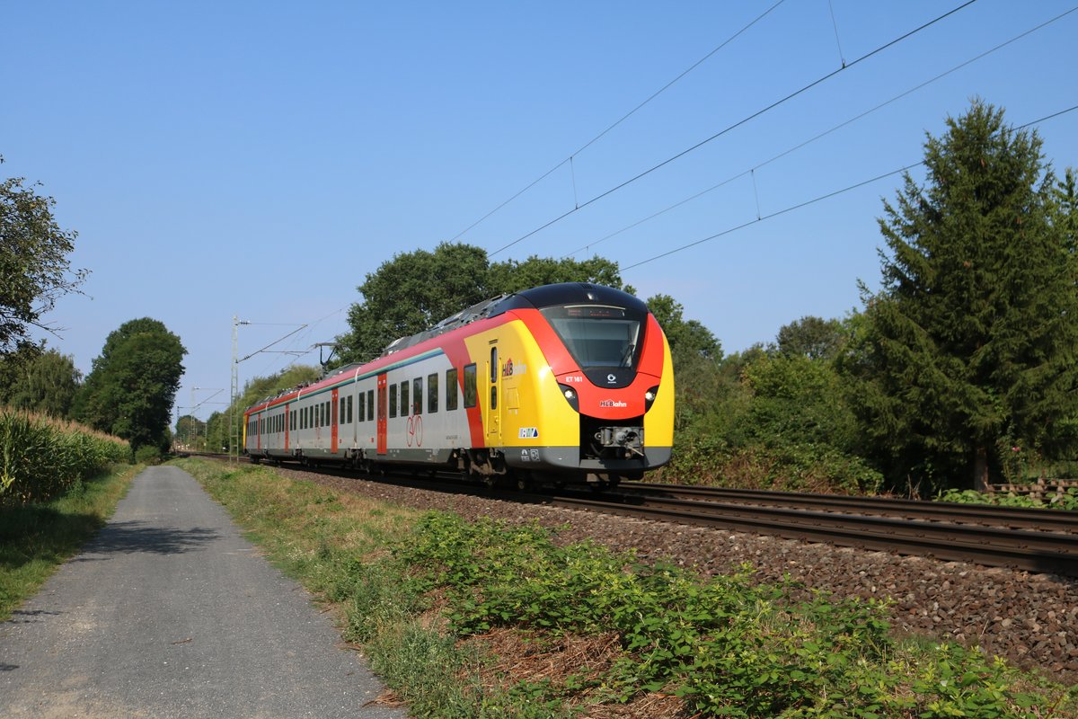 HLB Alstom Coradia Continental ET 161 am 04.08.19 in Maintal Ost