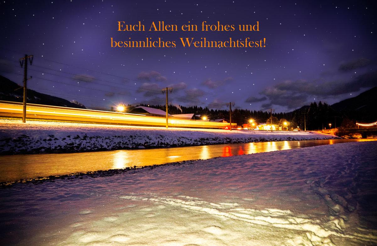 Wünsch Euch Allen Frohe Weihnachten.Ich Wünsche Euch Allen Auf Bahnbilder De Frohe Weihnachten Sowie